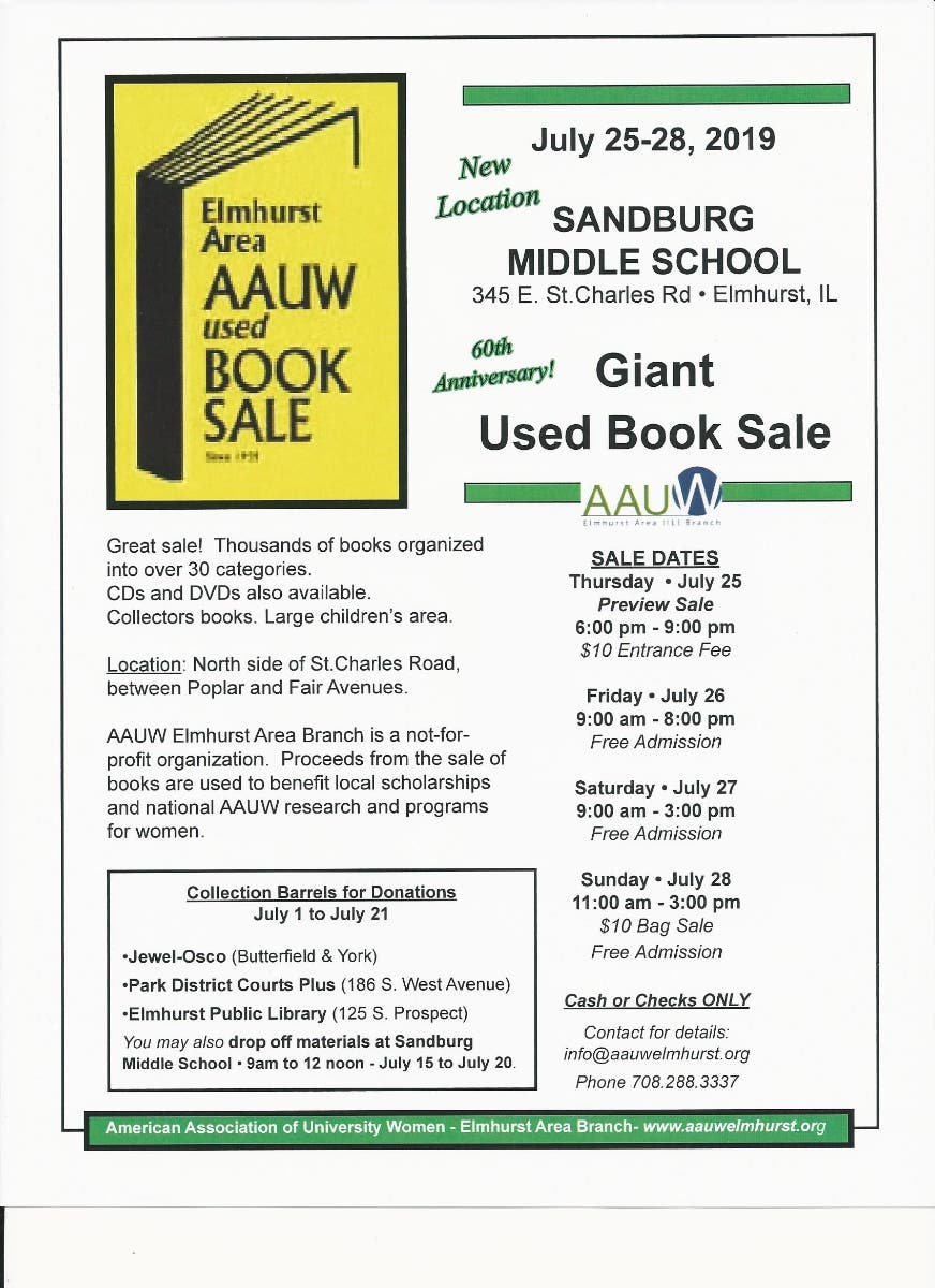 aauw book sale 2020