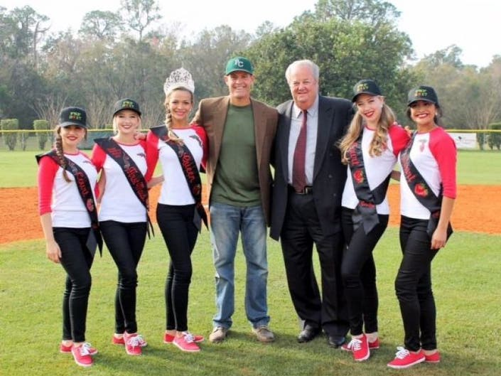ba506f68160 ... MLB Umpire Joe West speaks at Plant City Little League s Opening Day  2017- ...