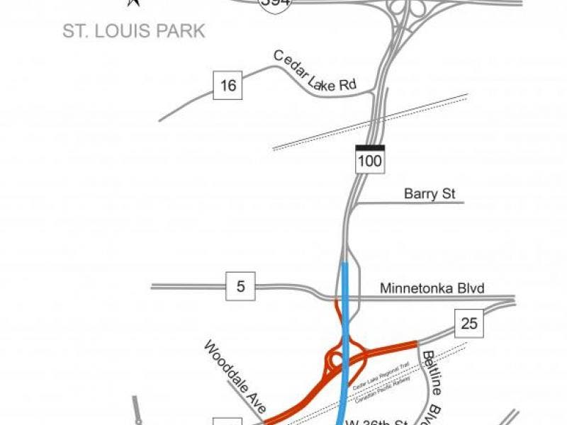 Highway 100 Will See Closures this Weekend | St  Louis Park