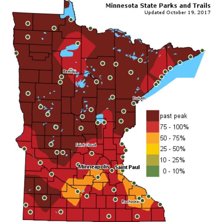 Minnesota Fall Foliage 2017 Peak Dates Best Time To See