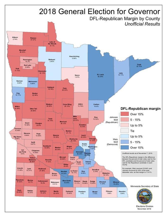 5 Maps That Explain Minnesota\'s 2018 Elections | Apple ...