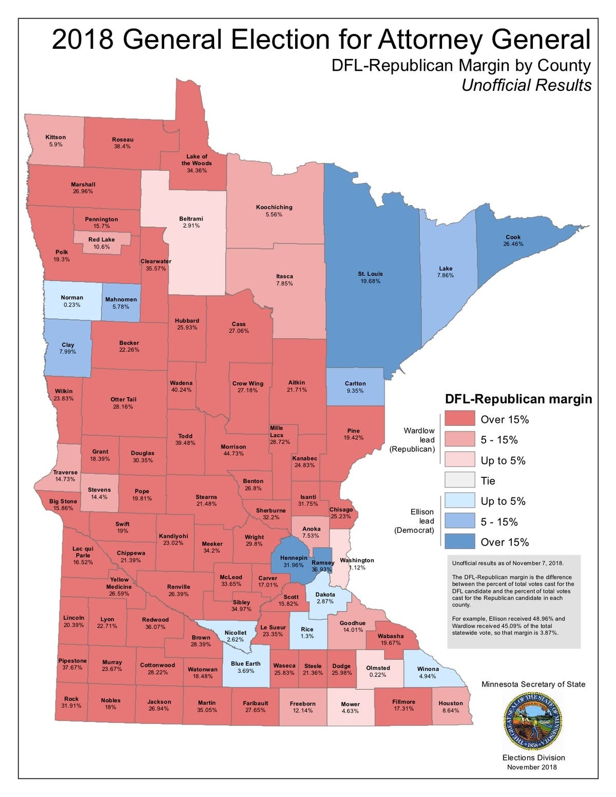 5 Maps That Explain Minnesota\'s 2018 Elections | Apple Valley, MN Patch