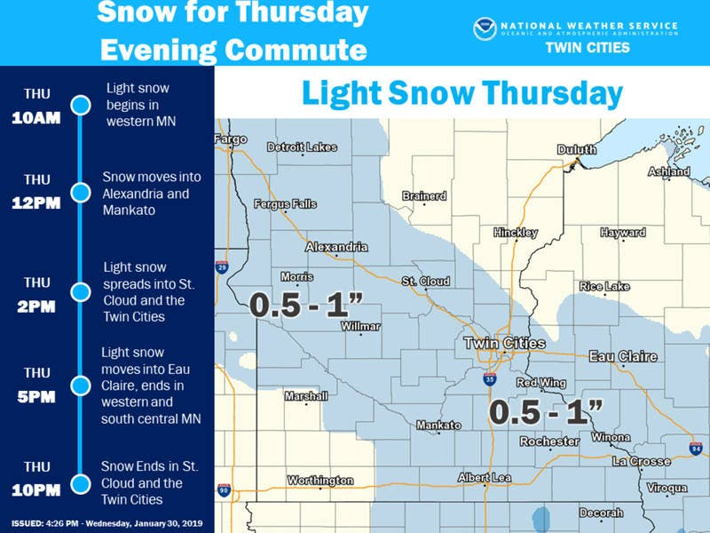 Minnesota Weather: Dangerous Wind Chills, Light Snow Thursday