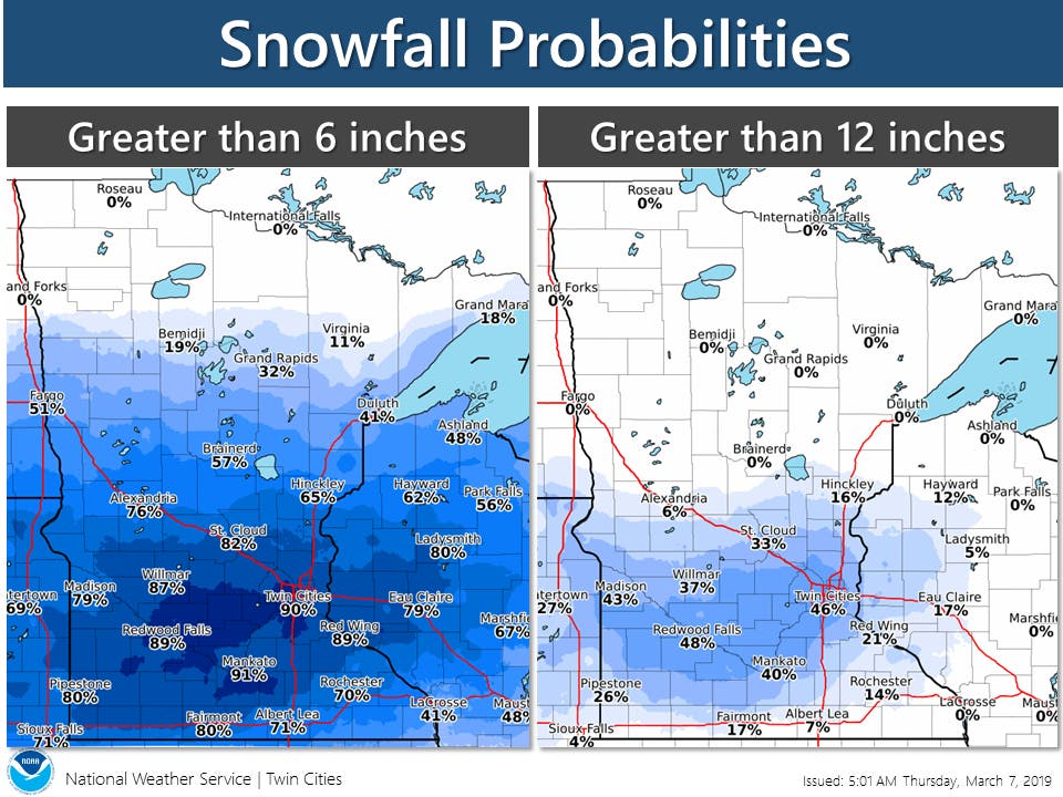 12 Inches Of Snow Possible For Twin Cities | Southwest