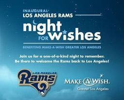 Making Wishes Come True: LA Rams Night for Wishes Event