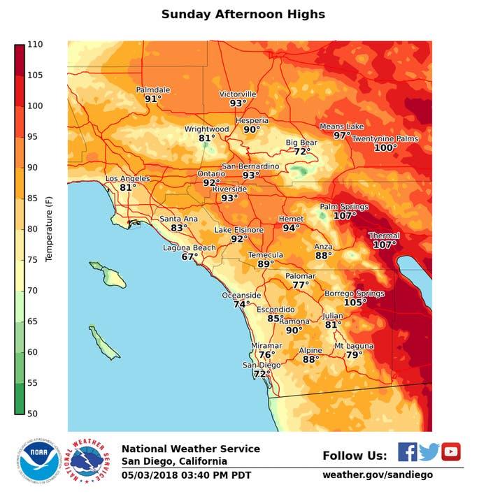Heatwave Hits Inland Orange County: 4-Day Forecast ...