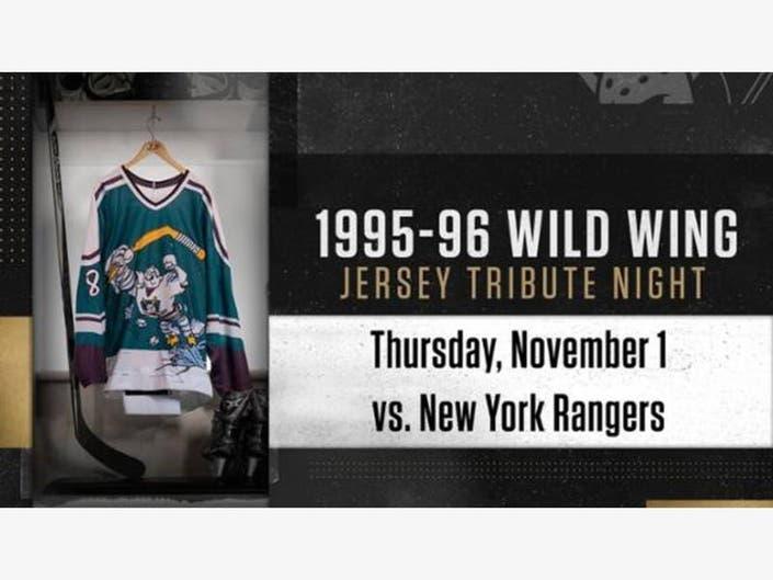 0893f06d587 Anaheim Ducks Showcase Wild Wing Jerseys On Tribute Night