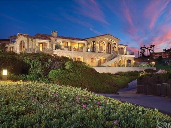 Gated Ritz Cove Property Sits On 2 Oceanfront Lots In Dana Point