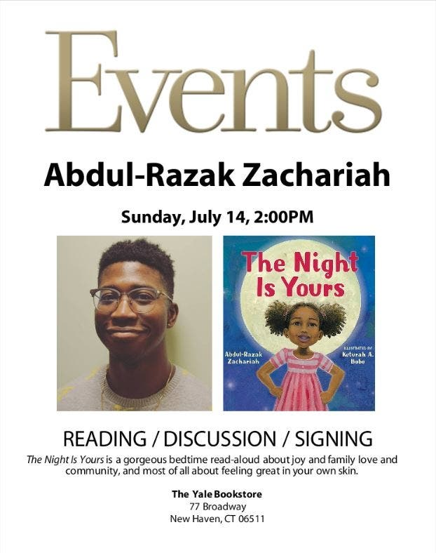 Jul 14 | The Night Is Yours Book Signing and Discussion