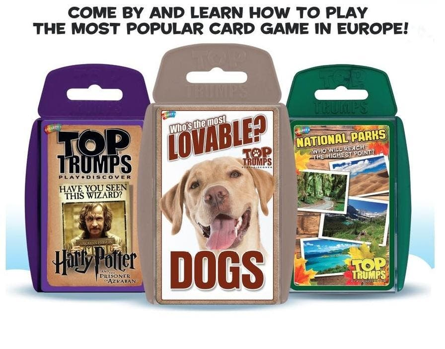 Top Trumps Rules >> Jul 27 Top Trumps Card Game Special Event Learn How To