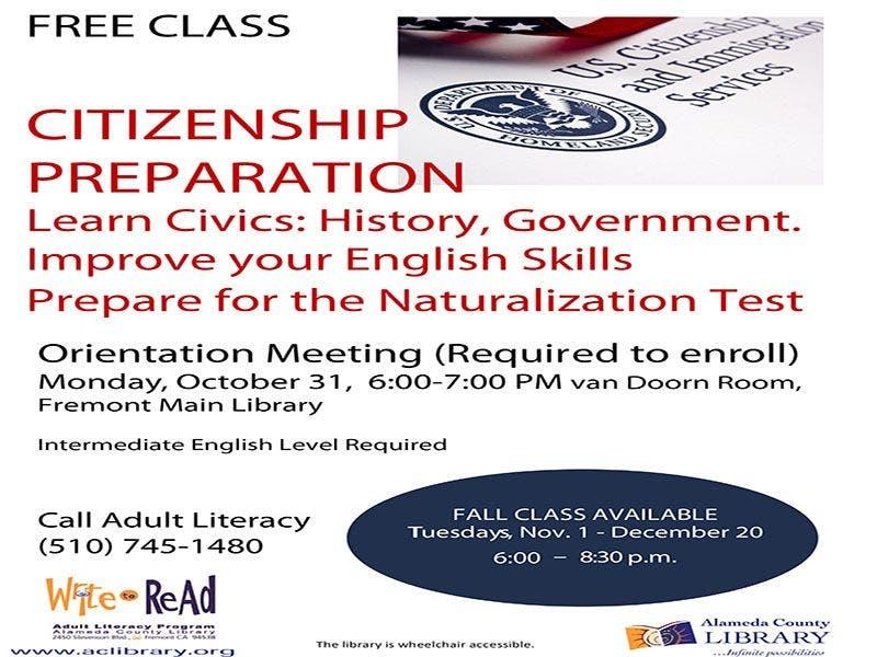 Citizenship Preparation Class | Newark, CA Patch