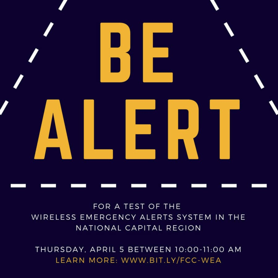 Wireless Emergency Alert Test Thursday In Virginia, DC