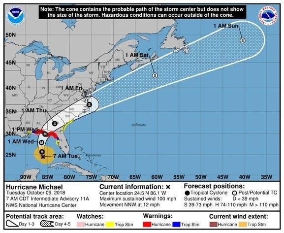 Hurricane Michael Now Cat 4