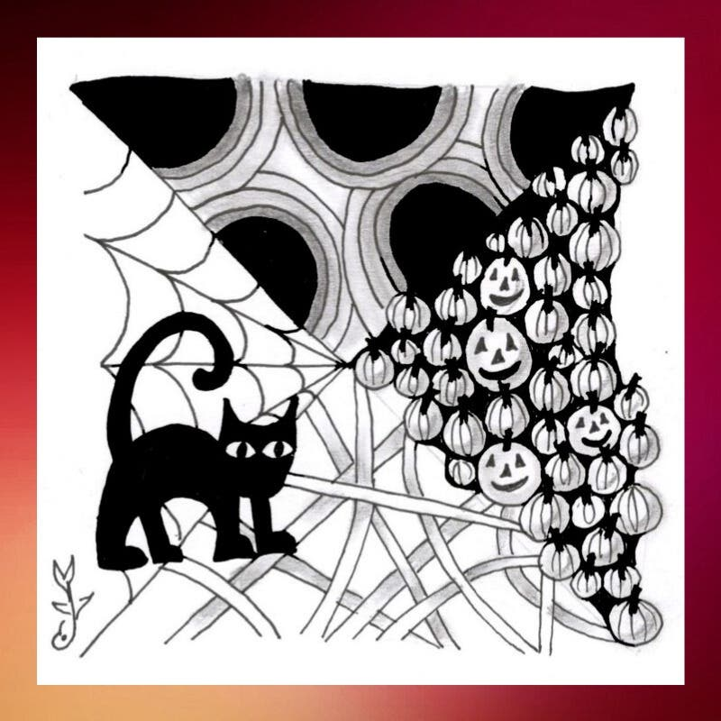 Oct 26 The Spirit Of Zentangle A Halloween Themed Art Ful Meditation Campbell Ca Patch