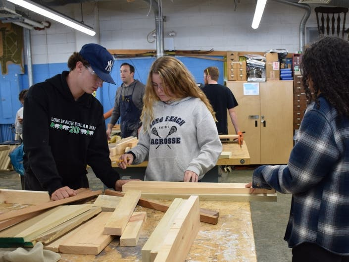 Long Beach S Woodworking Students Give Back Long Beach Ny