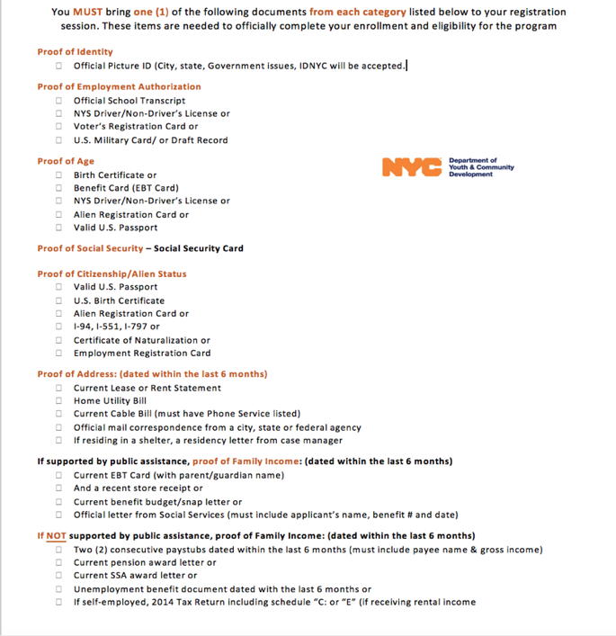 Internship Program for Young Adults, ages 17-24 | Harlem, NY