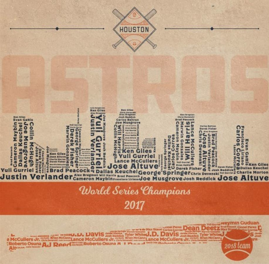 Houston Astros Among MLB Teams Honored With Cool Playoff Art