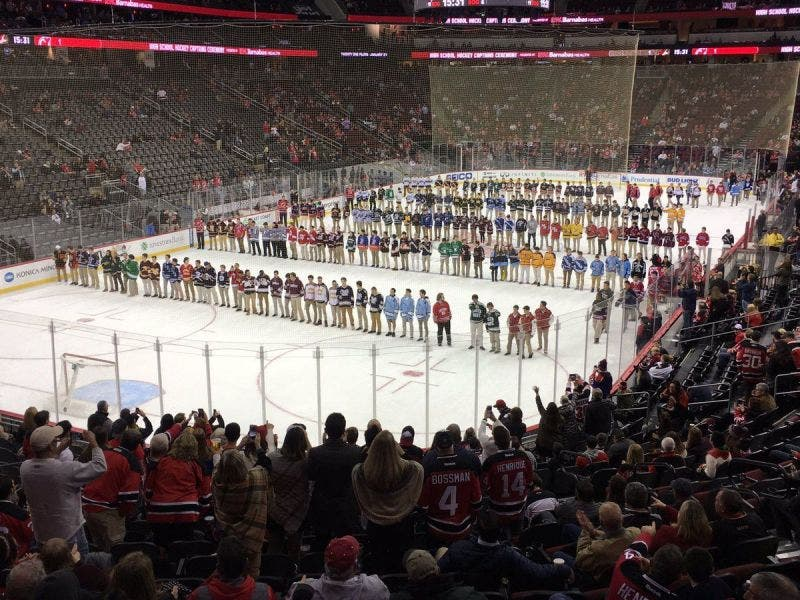 official photos 120f7 13859 Woodbridge Hockey Players Recognized At NJ Devils' Captains ...