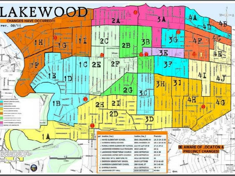 Lakewood Polling Locations And Precincts Changed Early