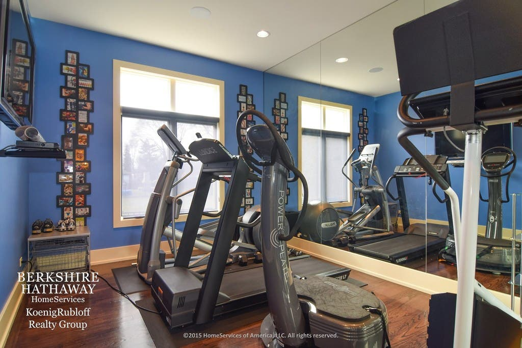 Wow house modern ranch with gym theater full wall murals