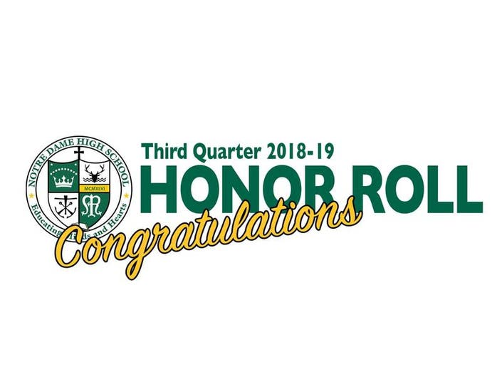 Fairfield Residents Earn Honors at Notre Dame High School