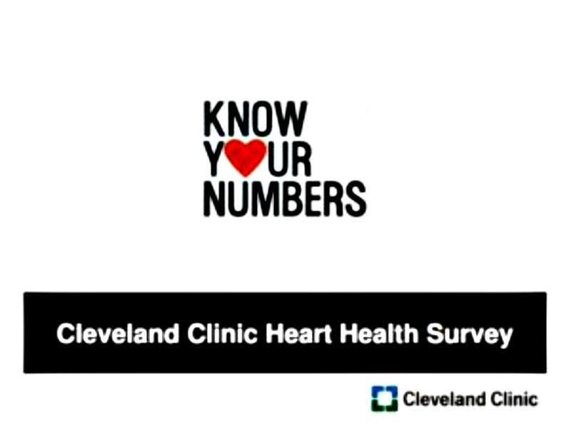 KNOW YOUR NUMBERS: Cleveland Clinic: Knowing Risk Factors