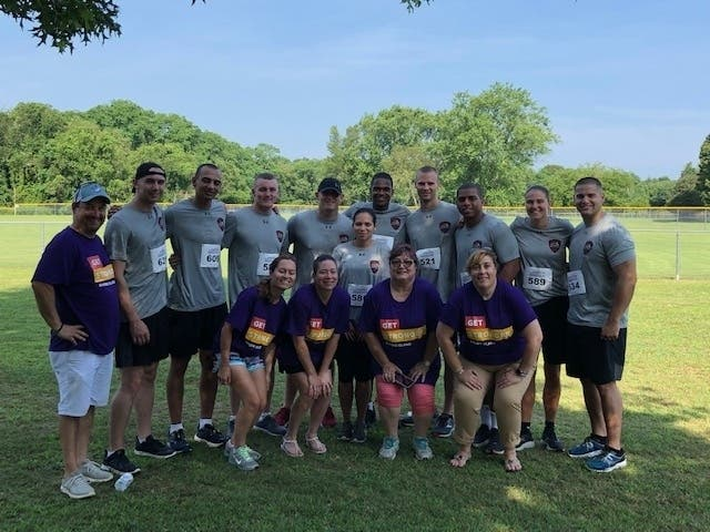 Centers Health Care's RI Facilities Support Officer Malloy at 5K    Providence, RI Patch