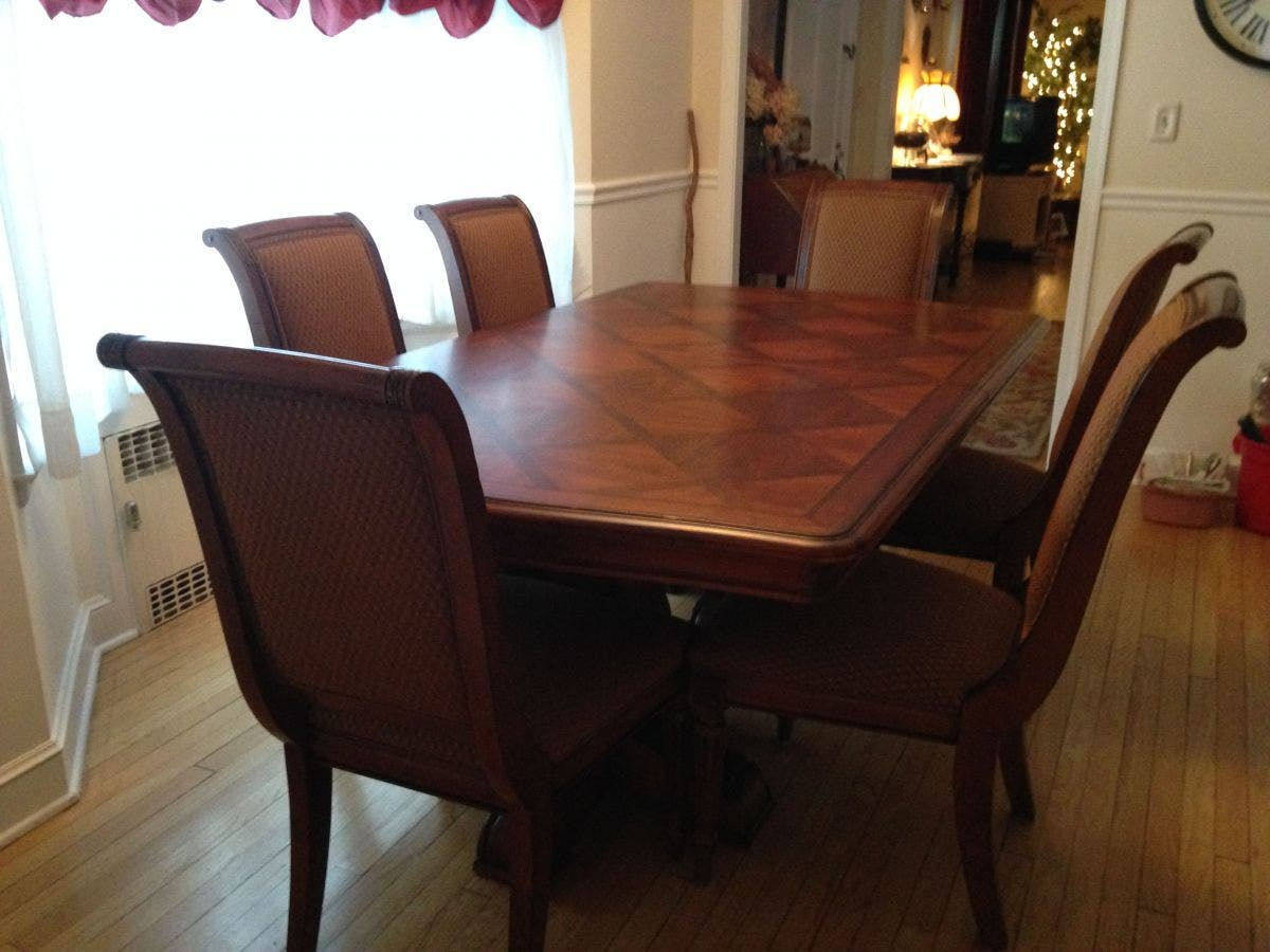 Stupendous Like New Ethan Allen Dining Room Set Rocky Hill Ct Patch Unemploymentrelief Wooden Chair Designs For Living Room Unemploymentrelieforg