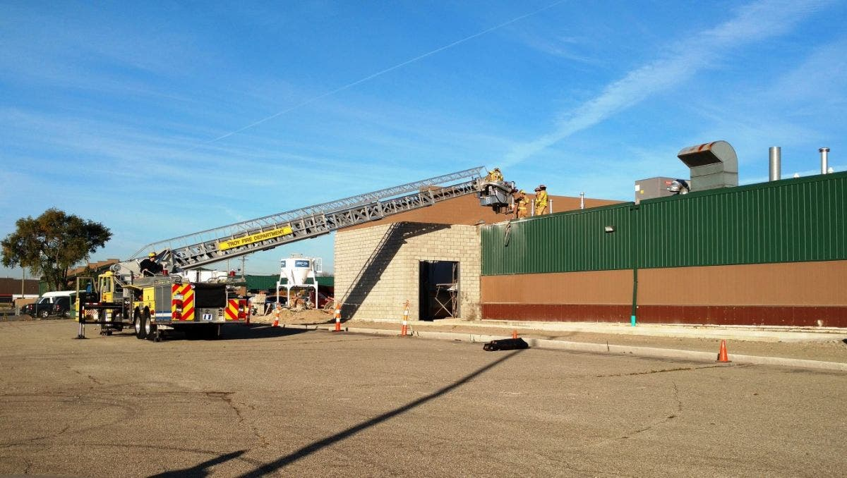 Troy Fire Department Fights Construction Site Fire Troy