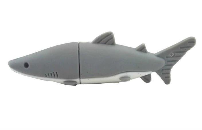 155fe79dc Aneew 16-GB Gray Pendrive Shark Fish USB Flash Drive