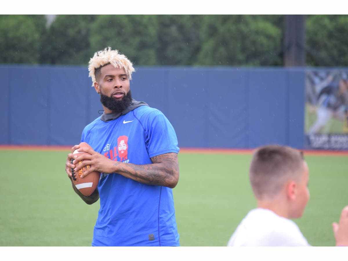 quality design 2b84a c4f95 Embracing His Status as a Role Model, Giants All-Pro WR Odell Beckham Jr.  Hosts Second Annual Football Camp for Kids