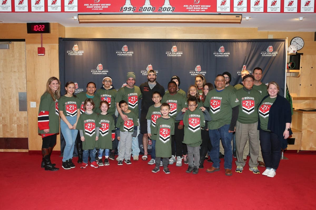 Devils Kyle Palmieri 'Honored to Give Back to Military