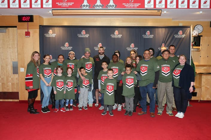 Devils Kyle Palmieri 'Honored to Give Back to Military Community'