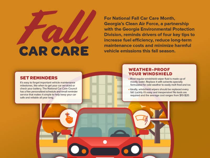 Expert Fall Car Care Month Tips From Georgia S Clean Air Force