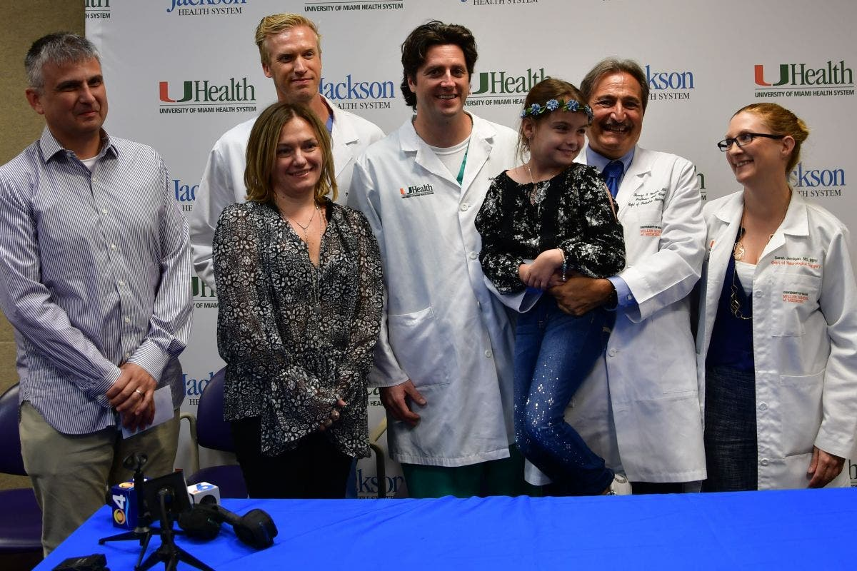 UM Doctors Remove Rare Tumor From 8-Year-old Girl | Miami