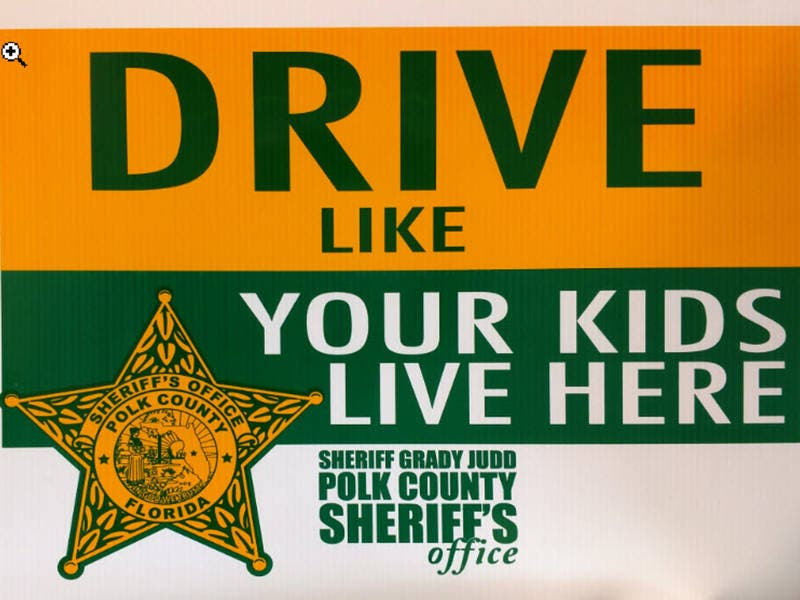 Give Polk County Speeders Sign To Slow Down — Literally