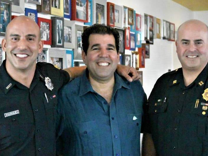 Dozens Of Miami Beach Resisdents Turn Out For Cafecito With A Cop