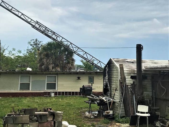 Winter Haven Home Erupts In Flames After Antenna Hits Power Lines