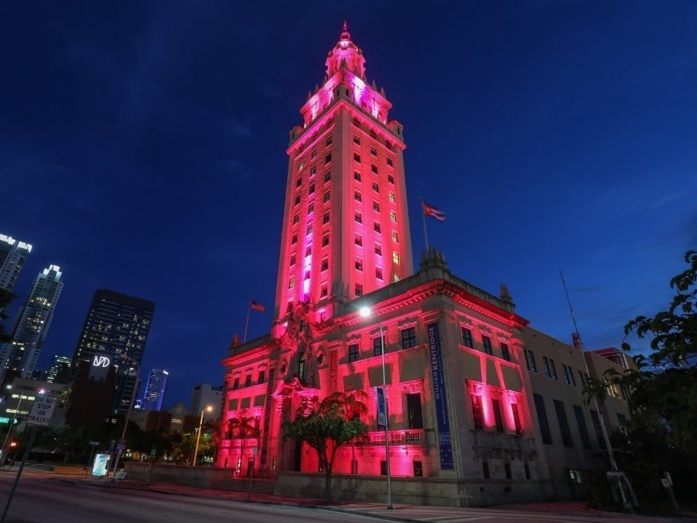Miami's Freedom Tower Will Light Up Pink This Weekend ...