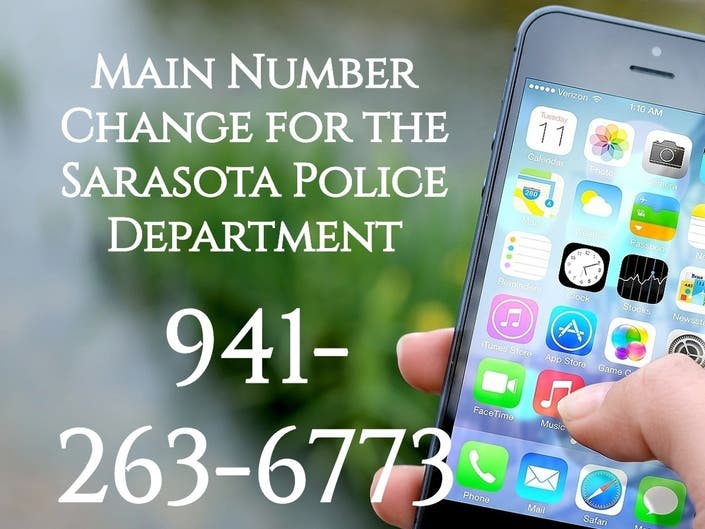 Sarasota Cops Get New Phone Number: Jot This Down Now