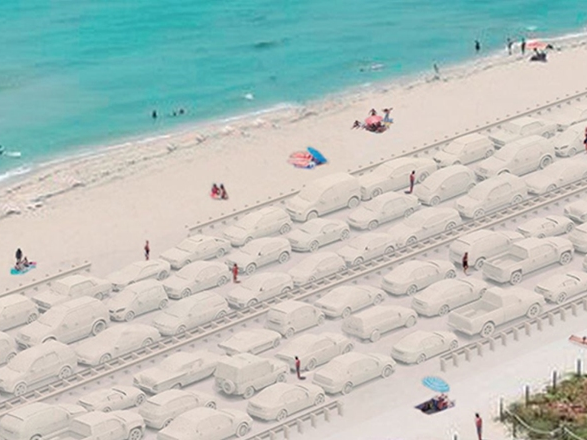 Miami Beach Plans Monumental Traffic Jam — In Sand