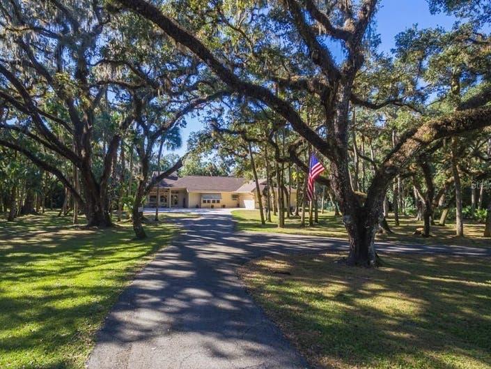 Sarasota Home Includes 3-Stall Horse Barn