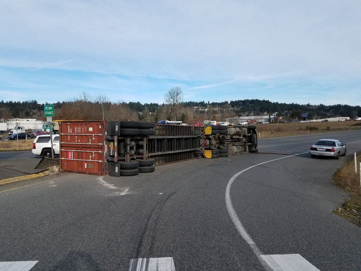 SR 167 In Puyallup Reopens After Semi-Truck Crash (Update
