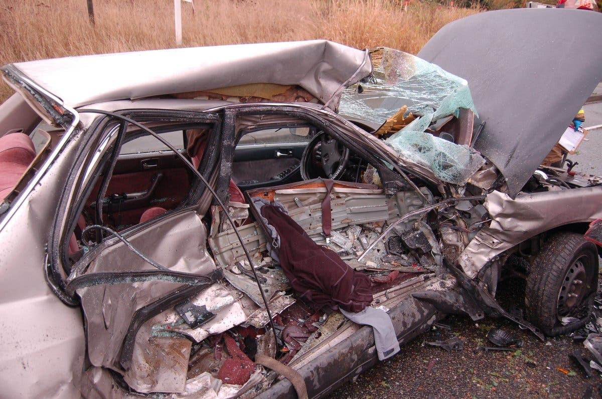 Reckless Driver 'Crushed' By Oncoming Cars In Puyallup