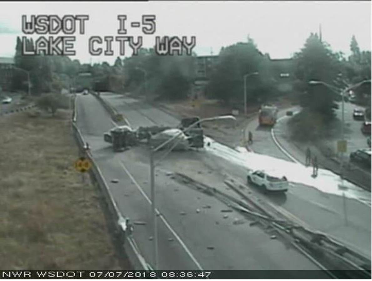 Semi Crash Blocking SR 522 Exit In Seattle | Seattle, WA Patch