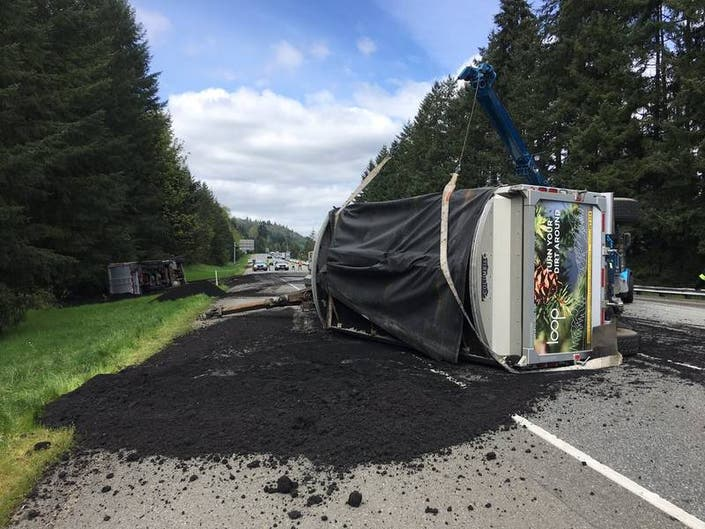 Human Waste Spill Close I-90 For Hours