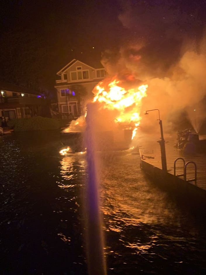 Large Boat Fire Hits Bellevue Marina