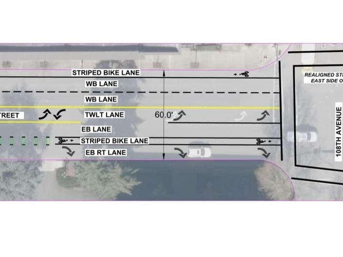 Bellevue Narrows In On Main Street Bike Lane Plan