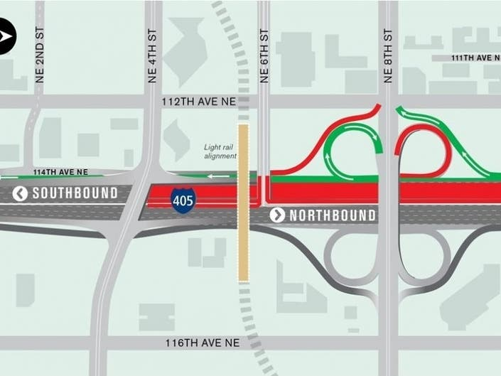I-405 Weekend Lane Closures Coming For Light Rail Work