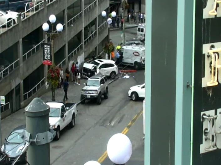 Dump Truck Driver Crashes Into Pioneer Square Subway